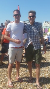 Hove MP Peter Kyle with deputy Labour leadership contender Ben Bradshaw