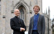 Bishop Martin Warner with Archie Coates