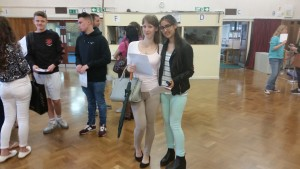 Dora Gellen and Maria Kawick at Patcham High School
