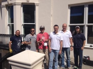 Hamilton Lodge Deaf School - volunteers from Allianz Insurance help out