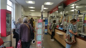 Queue in Western Road Post Office