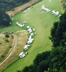 Travellers in Wild Park in August following the closure of the Horsdean site