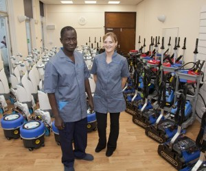 BSUH housekeepers Cherif Diakhate and Kay Ford