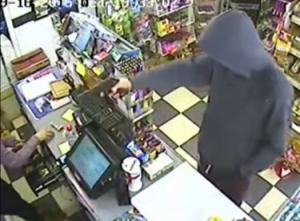 CCTV Elm Stores robbery 201509 YouTube still