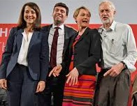 Labour leadership candidates Liz Kendall, Andy Burnham, Yvette Cooper and Jeremy Corbyn