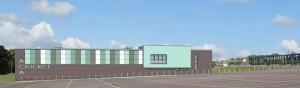 An artist's impression of the Aldridge Cricket Academy's new indoor centre