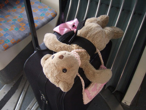 Teddy bear with suitcase by Ralph Aichinger on Flickr