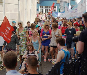 The first ever Trans Pride march in Brighton last year. Photo from Wikimedia Commons by Ross Burgess