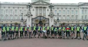 YMCA Tour de Y cyclists, including Pete Colmer from Brighton