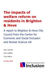 Cover shot - CESI report on welfare reform 201506