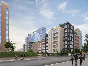An artist's impression of the proposed Hove Gardens scheme from Ethel Street