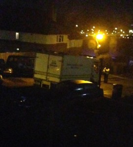 The bomb squad arrives in Moulsecoomb Way. Picture by Lisa Gallaway