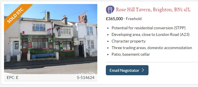 Brighton and Hove News » Sale of Rose Hill Tavern spells trouble for