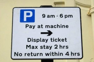 parking sign pay and display limited stay