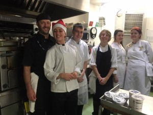 BACA students serve Christmas lunch at the Bevy 1