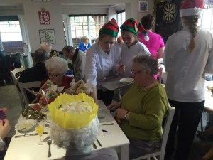 BACA students serve Christmas lunch at the Bevy 2