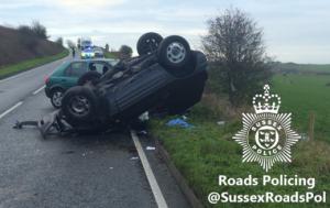 Crash in Falmer Road 20151229