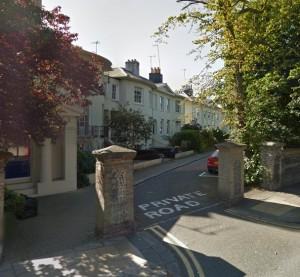 Hanover Crescent. Image taken from Google Streetview
