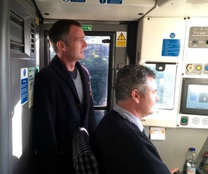 Peter Kyle shadows a train driver