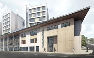 How the first of the new buildings at the Royal Sussex County Hospital is expected to look
