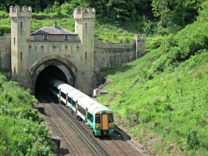 Southern train Clayton Tunnel - pic by Jim Lock on Flickr