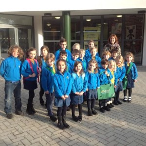 Head teacher Wendy King and pupils at the Bilingual Primary School on the first day at the new premises next to Hove Park