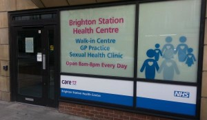 Brighton Station Health Centre window