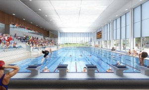 The main pool design at the new King Alfred will look west along the Hove seafront