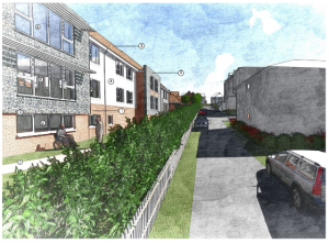 An artist's impression of the care home planned for the old St Aubyns School site in Rottingdean