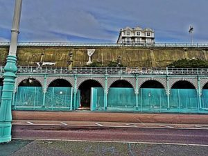 Fencing put up along Madeira Terraces. Image by Jax Atkins