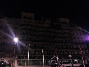 Grand Hotel in darkness. Picture by Ian Marshall