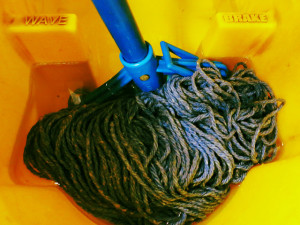 Mop in bucket by Ruth Hartnup on Flickr