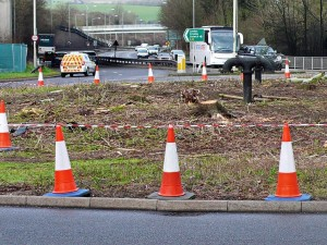 Patcham roundabout by Colin Leeves