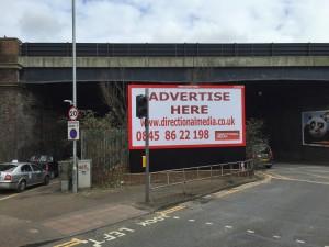 Rogue advertising hoarding