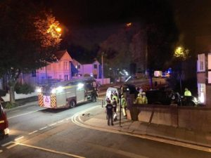 Emergency services on the scene. Picture by Jo Drage