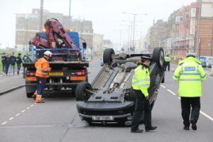 Kingsway car flip