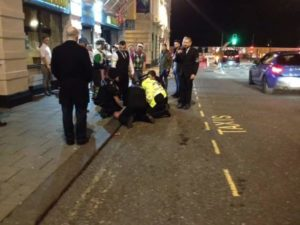 Police arrest a man suspected of assault in West Street, Brighton