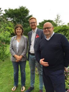 Lloyd Russell-Moyle, centre, with East Brighton Ward councillors Gill Mitchell and Warren Morgan