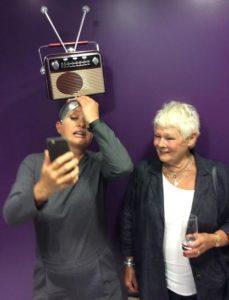Sara Cutting and Dame Judi Dench