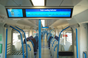 Smart signs - space on train shown