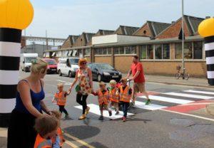 St Peter's School parents zebra crossing protest 20160608-1