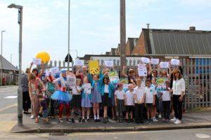 St Peter's School parents zebra crossing protest 20160608-3