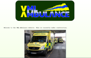 """Welcome to the VML Ambulance website. This is currently under construction"""