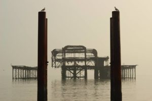 The West Pier pictured by Max White, 13, who was born on the day the pier was destroyed by fire