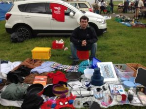 Andrea Mari held a car boot sale to raise money for VSO