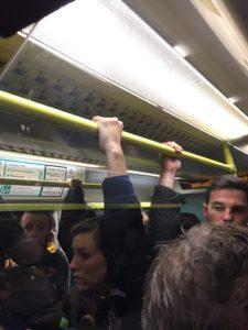 Crowded Southern train
