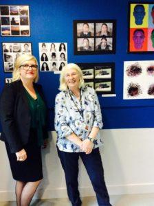 PACA head Katie Scott and head of art Sharon Durham