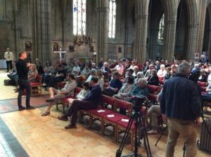 More than 100 passengers turned out for a public meeting chaired by Hove MP Peter Kyle at All Saints Church in Hove where Southern executives talked about the company's current poor performance