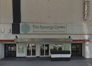 The Synergy Centre is the temporary tenant in the former night club with an undistinguished 1960s frontage