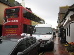 Traffic Rottingdean - picture by Jennifer Logan